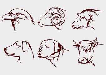 Birkaç hayvan figürü