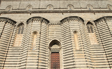 architectural details of Cathedral of Orvieto,Umbria. Italy.