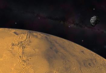 Mars sous menace d'astéroide