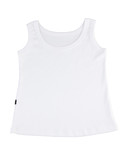 Casual white singlet for your relaxing day