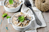 Mushrooms stewed