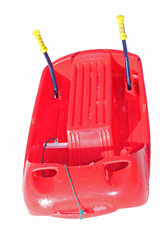 red plastic bob with metal brake levers for play and to descend