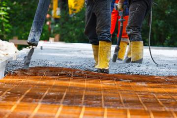 building site pour concrete