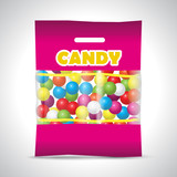 candy chewing gum bag