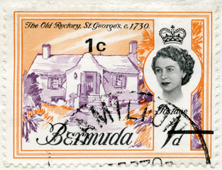 BERMUDA - 1962: shows The Old Rectory, St. George's, 1730
