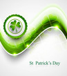 St. Patrick's Day colorful green icon wave background
