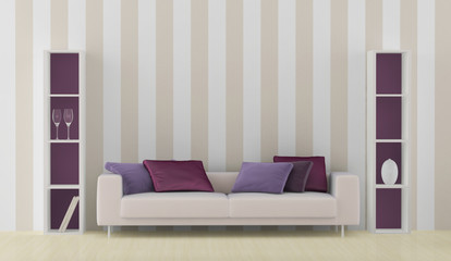 interior with white sofa