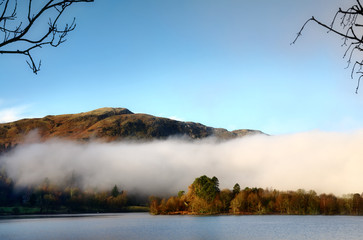 Grasmere on a misty winter morning.
