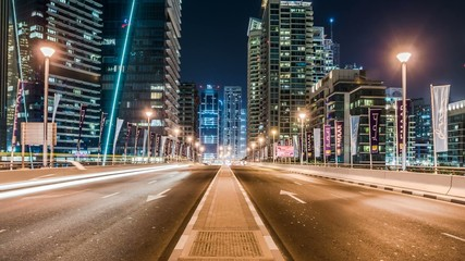 Traffic in Dubai 4K Timelapse with Zoom