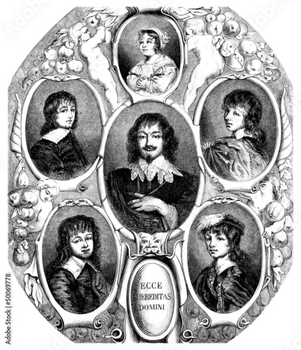 Family : Portraits - 17th century