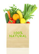 100 Percent Natural on a grocery bag