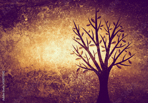 tree on textured background