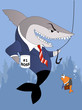Business shark is a good boss