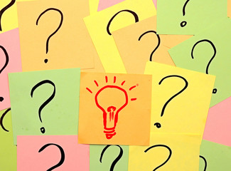 idea light bulb out of problems