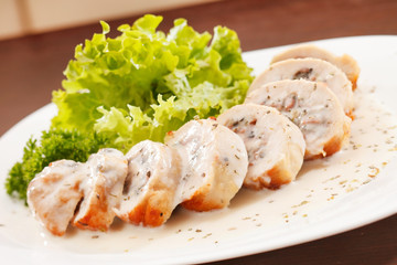 Roasted stuffed chicken breast