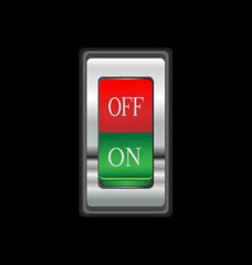 animation of on/off button
