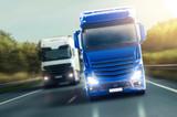Fototapeta Niebieska ciężarówka