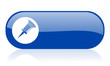 pin blue web glossy icon