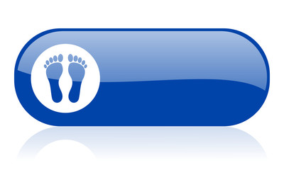 footprint blue web glossy icon