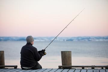 sitzender Angler #4