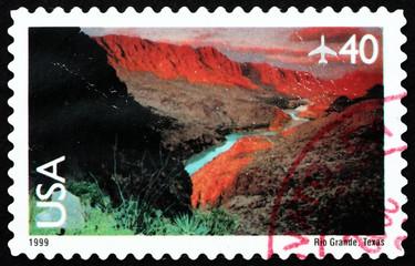 Postage stamp USA 1999 View of Rio Grande