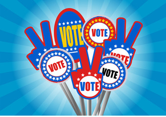 Stock Vector illustration of Vote signs