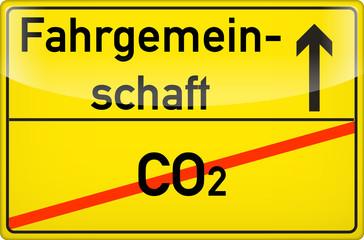 Fahrgemeinschaften schonen die Umwelt