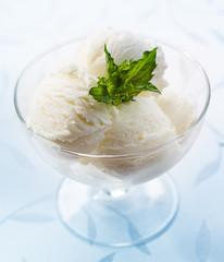 white vanilla ice cream closeup
