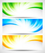 Set of swirl banners