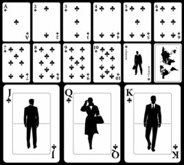 Business playing cards – clubs