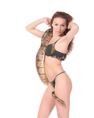 Sexy Woman with a Boa