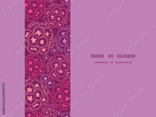 Vector abstract underwater flowers horizontal seamless pattern