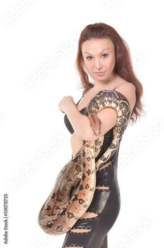 Sexy Woman with her Boa
