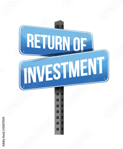 return of investment sign