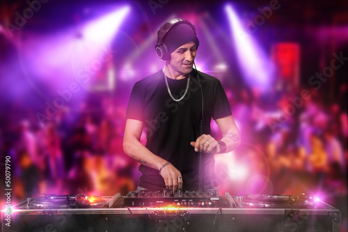 DJ is working at the disco