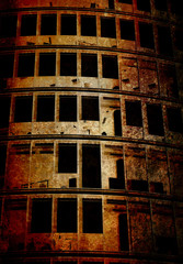 abstract grunge building