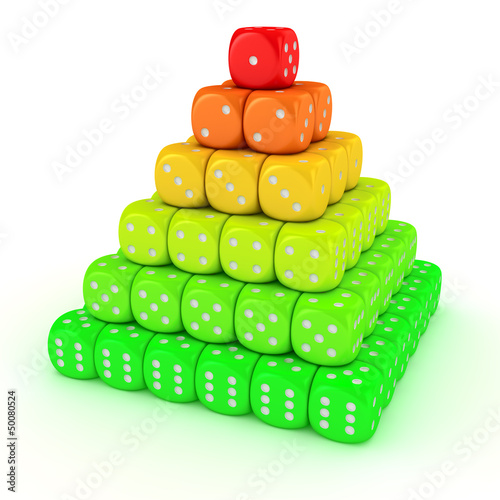 Pyramid from dice