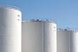 White oil storage tanks