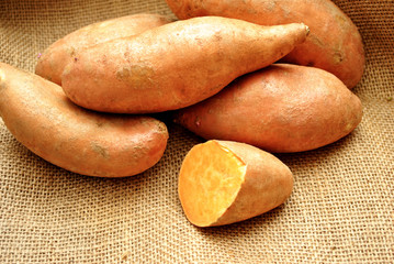 Fresh Harvested Sweet Potatoes