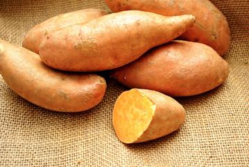 Fresh Harvested Sweet Potatoes
