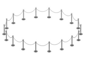 Ketten - Absperrung, im Kreis