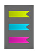 Vector set of colorful bookmarks