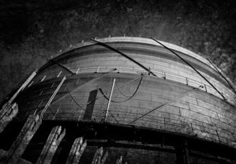 grungy gas silo