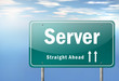 "Highway Signpost ""Server"""