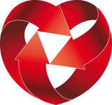 Recycled heart symbol