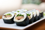 Rolls with shiitake mushrooms