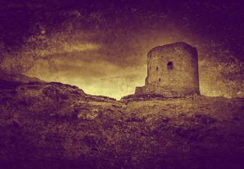 old derelict castle