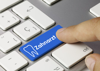 Zahnarzt Tastatur Finger