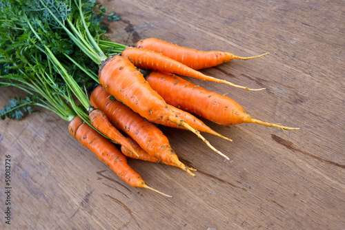 Carrot on the table