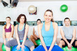 Group of people in aerobics class at the gym